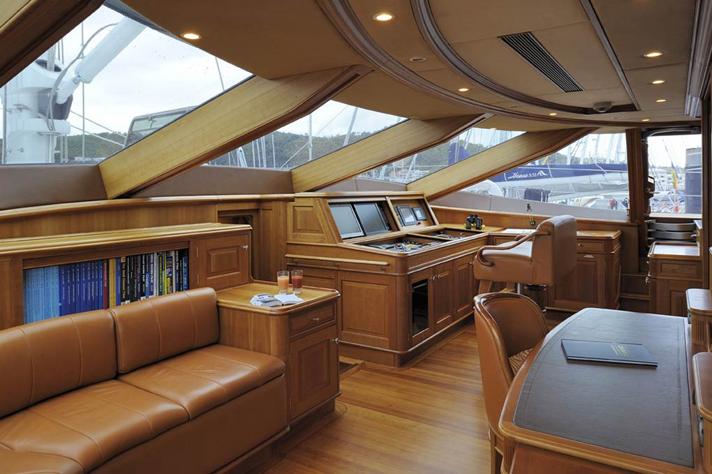 office control area on a yacht for charter S/Y Drumbeat