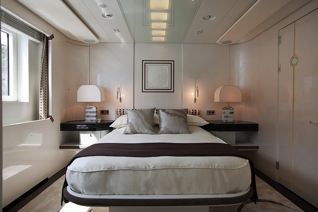 Private cabin on yacht for charter M/Y Quite Essential