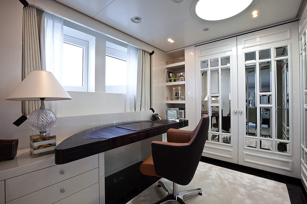 Private office on a yacht for charter M/Y Quite Essential
