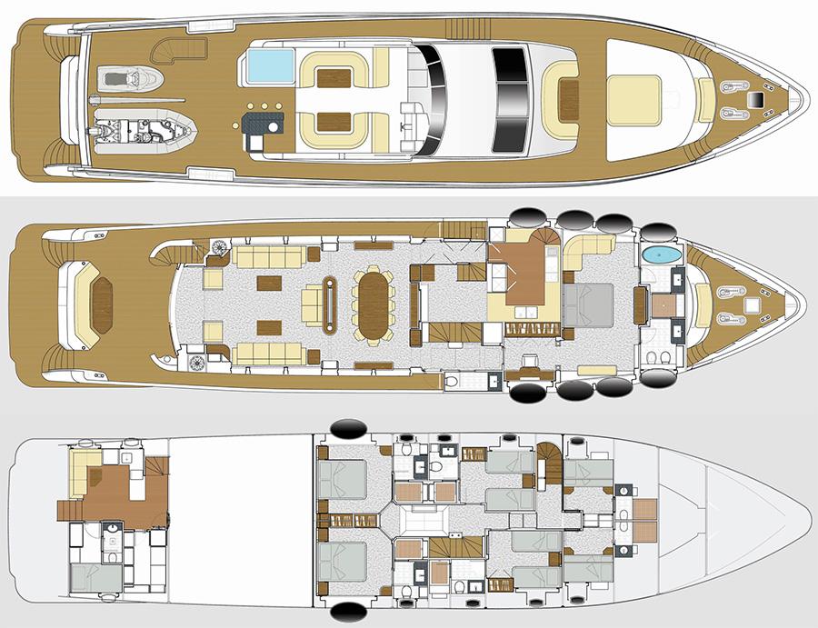 Majesty 105 Luxury Yacht S