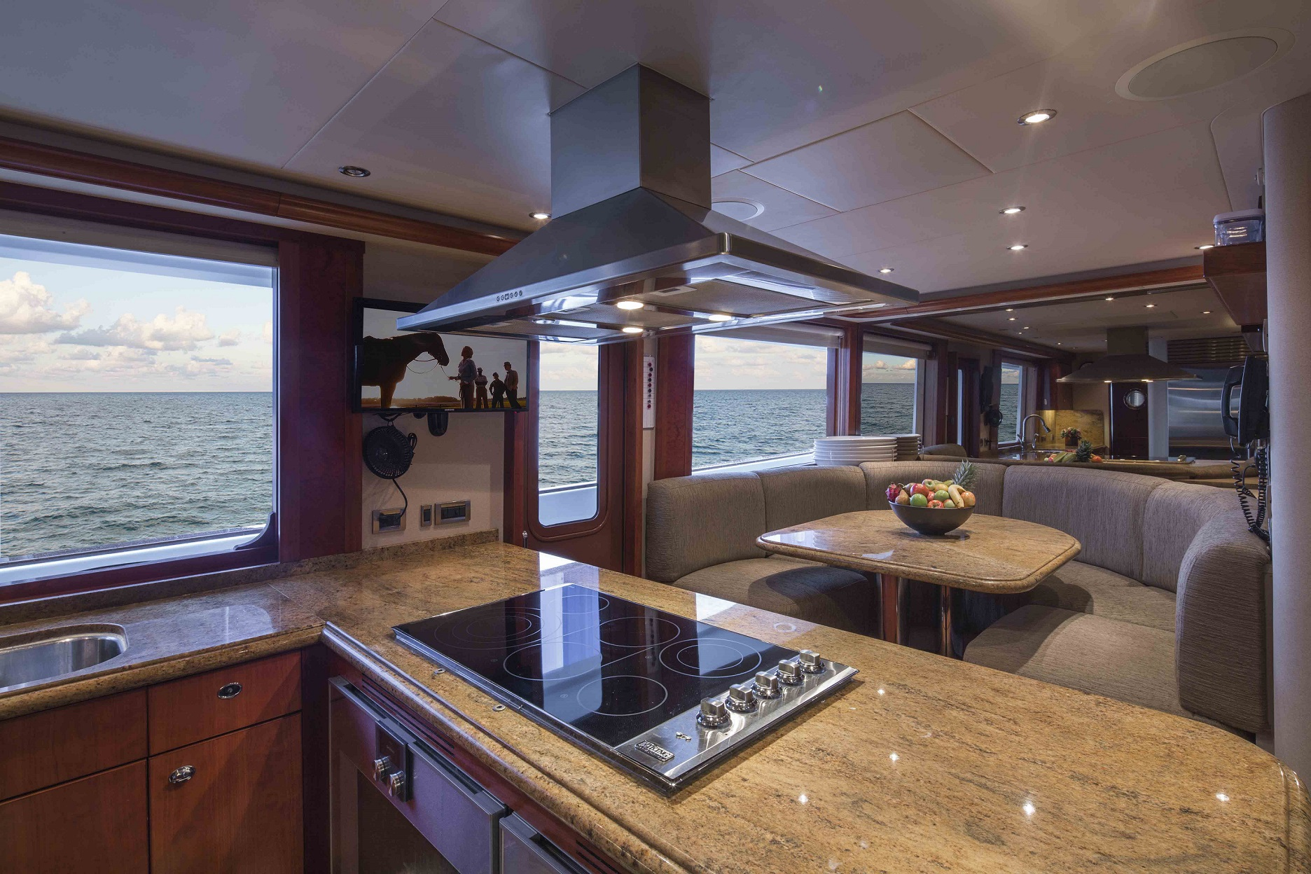plan a yacht for charter kitchen