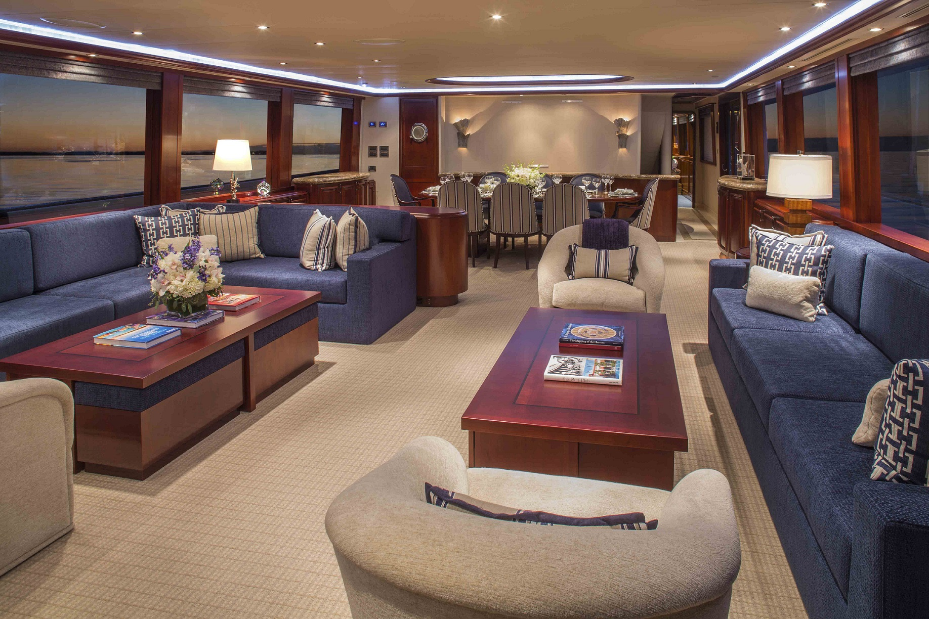 plan a yacht for charter main salon