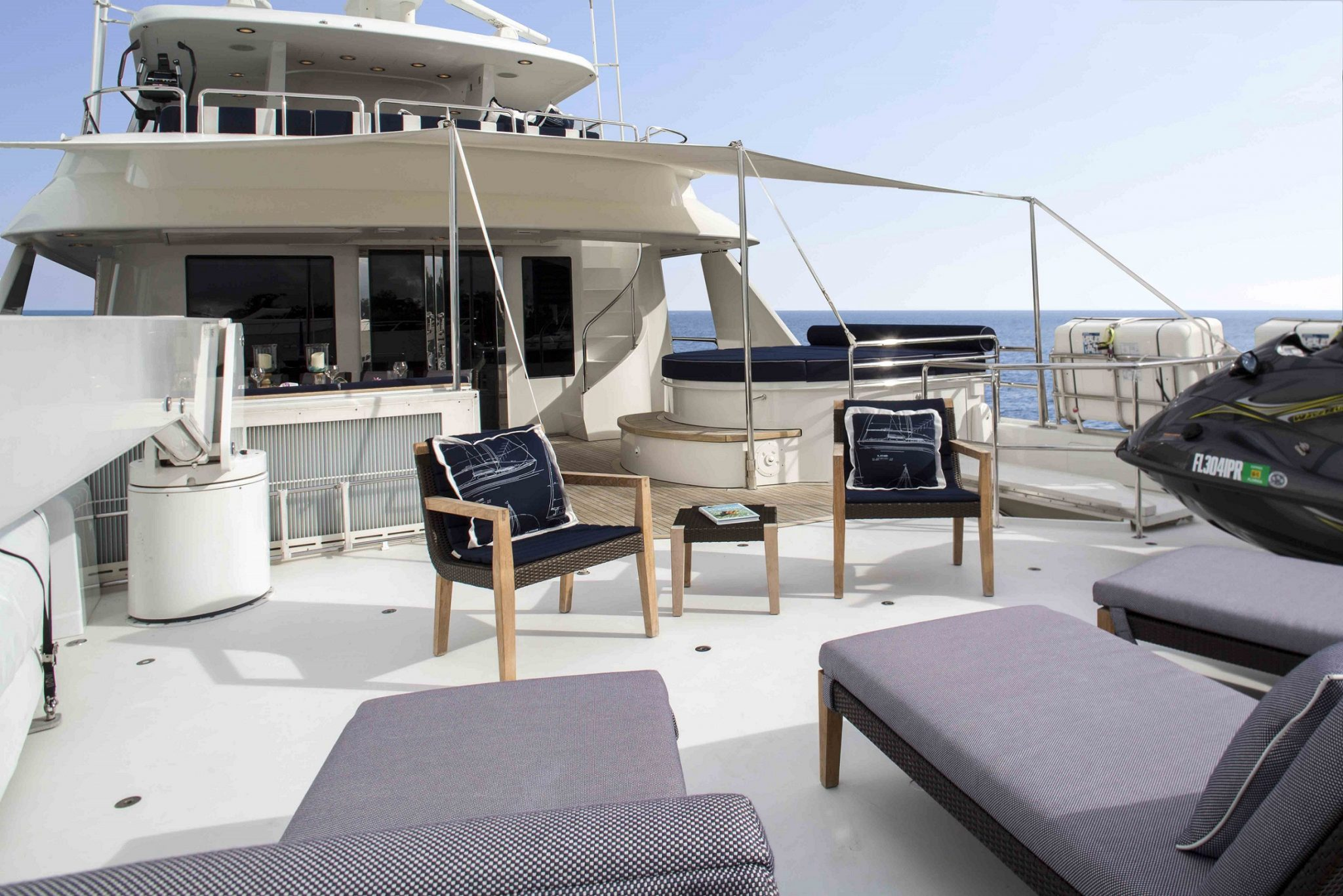 plan a yacht for charter sundeck
