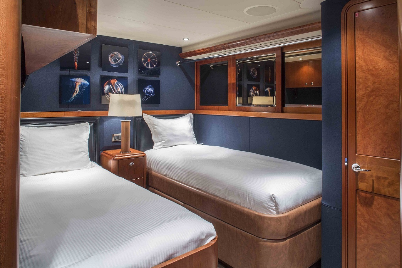 plan a yacht for charter twin guestroom