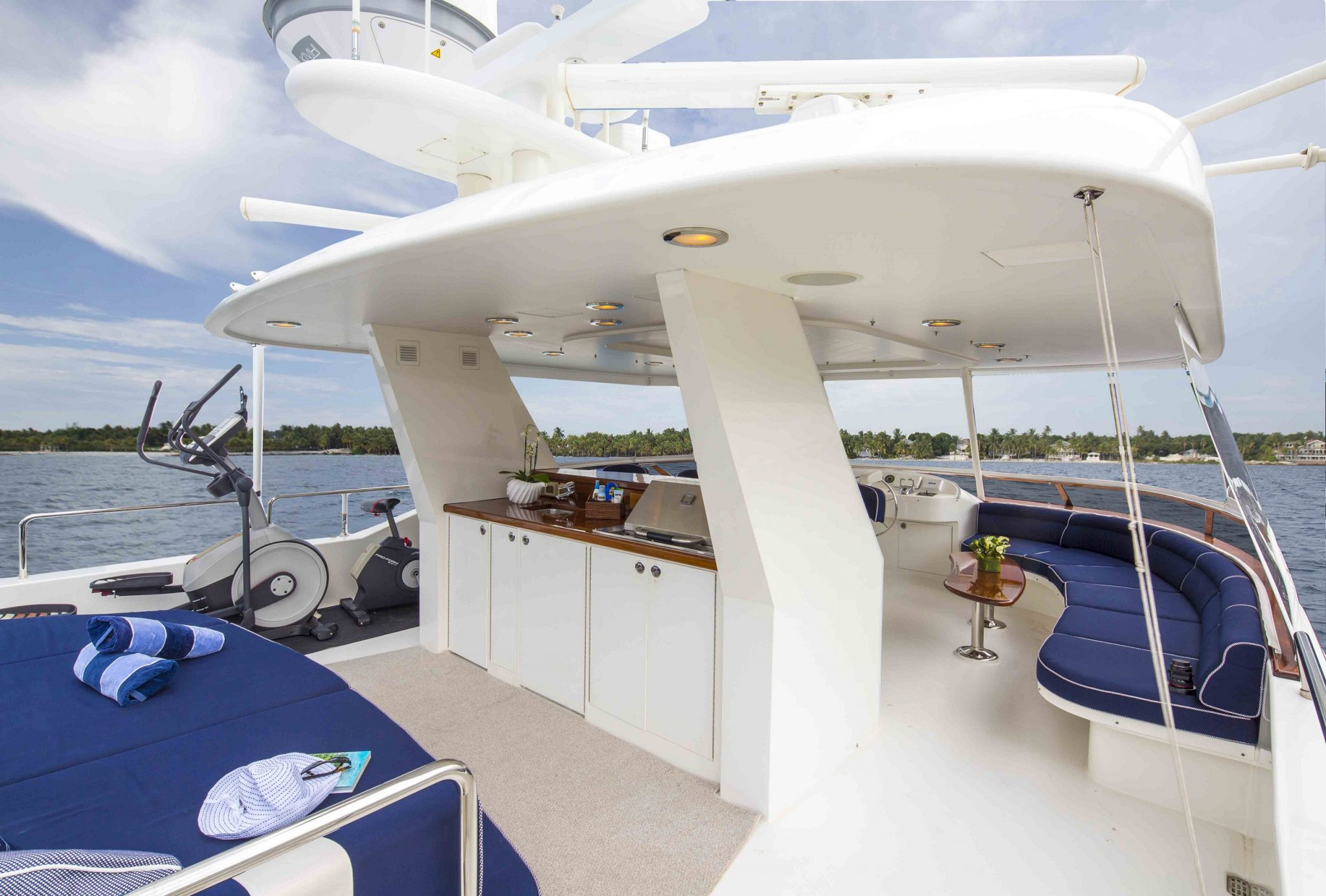 plan a yacht for charter upper deck