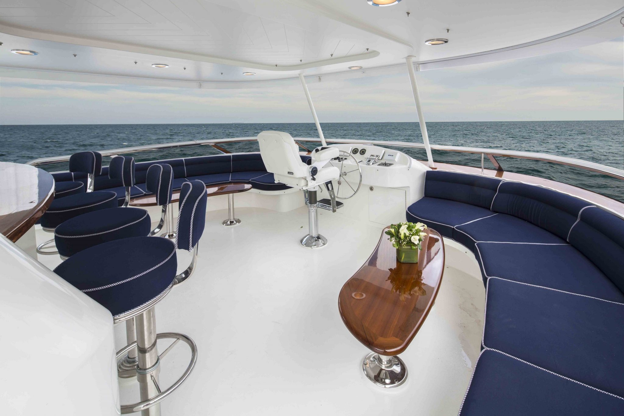 plan a yacht for charter upper deck view