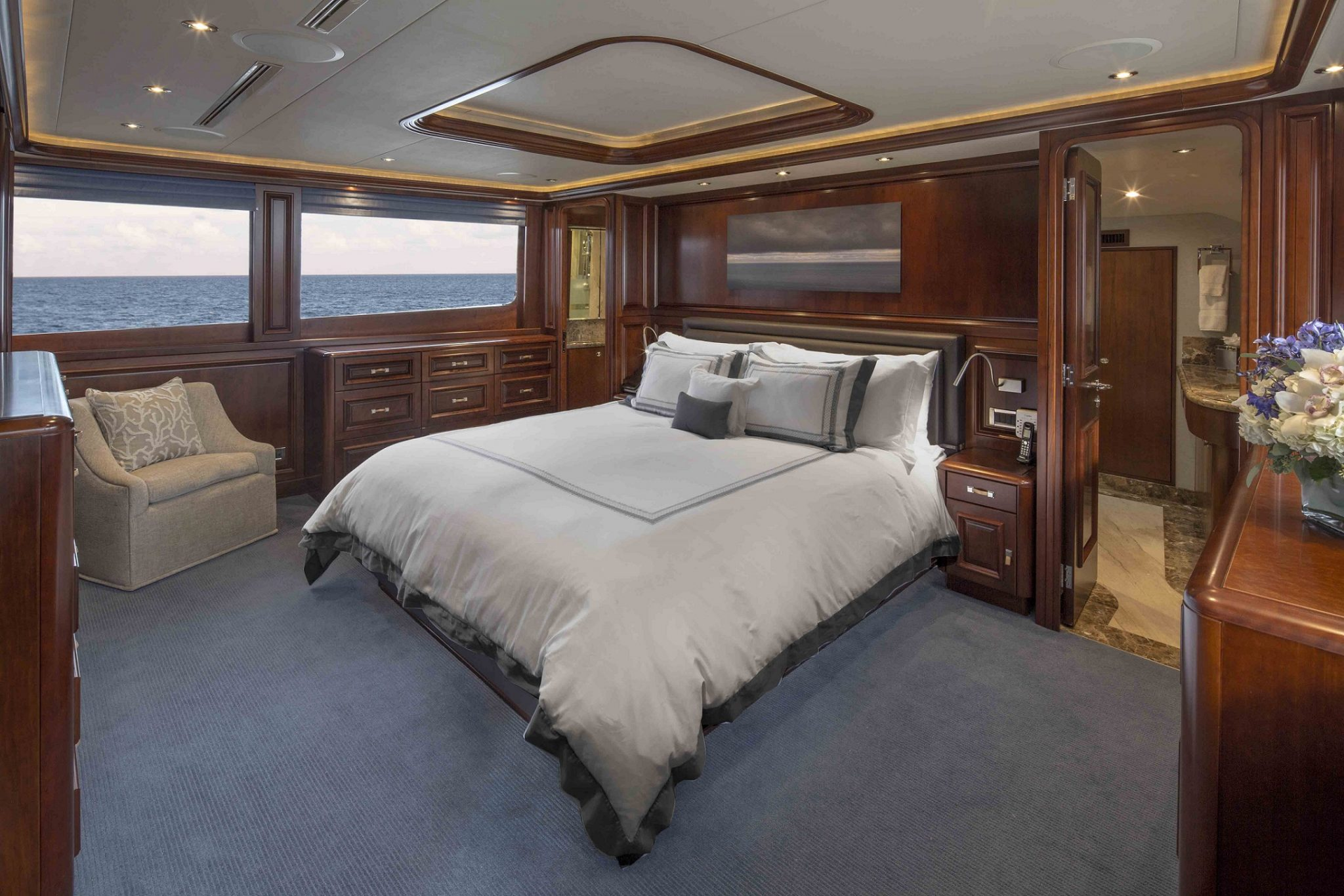 plan a yacht for charter guest bedroom
