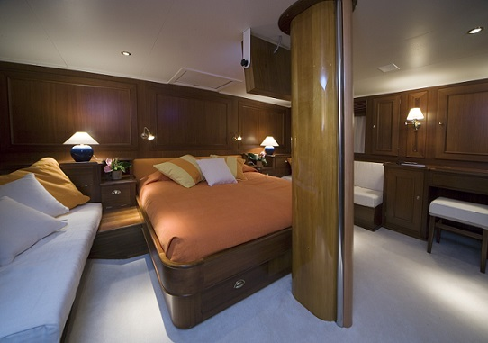 S/Y TIZIANA yacht for charter master bedroom