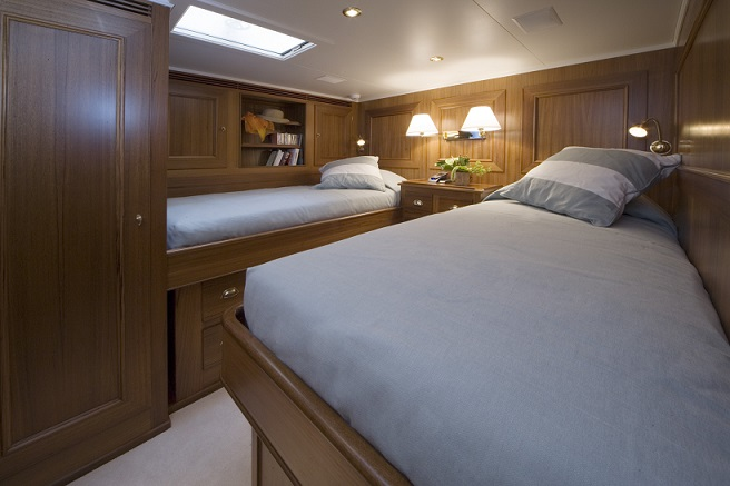S/Y TIZIANA yacht for charter twin bedroom
