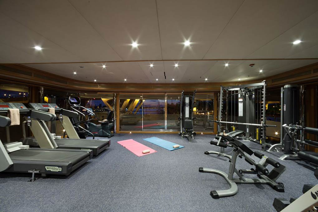 gym area on M/Y FREEDOM