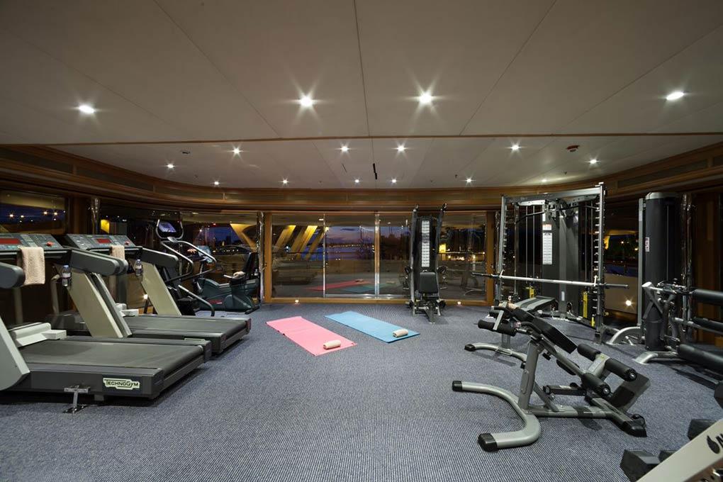 gym area on M/Y FREEDOM