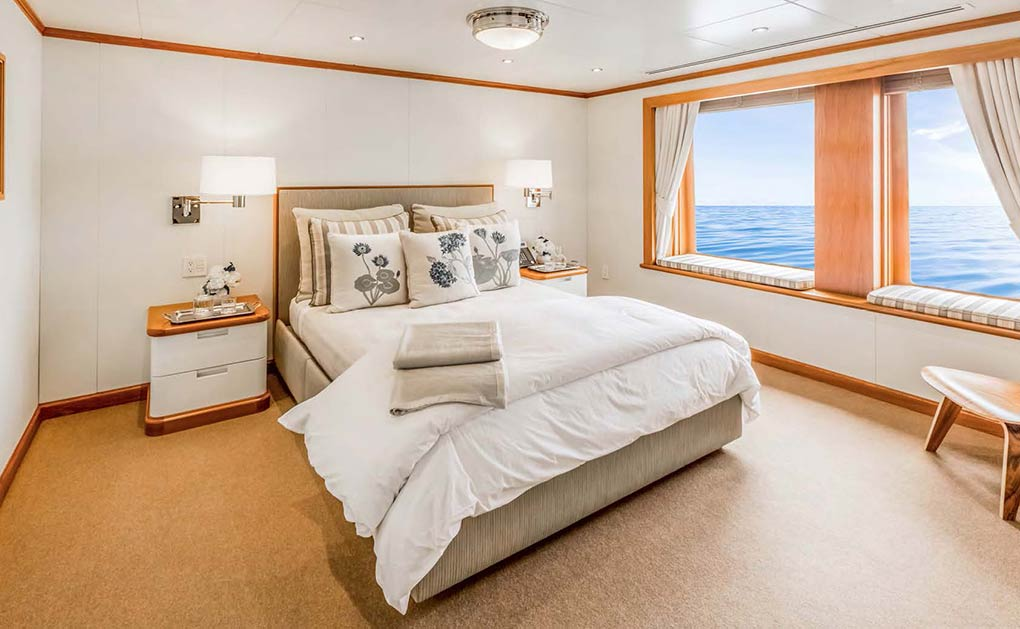 Dune cabin on a yacht for charter yacht for charter M/Y SuRi