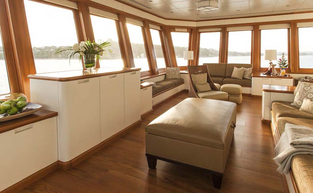 Lounge area on a yach for charter yacht for charter M/Y SuRi