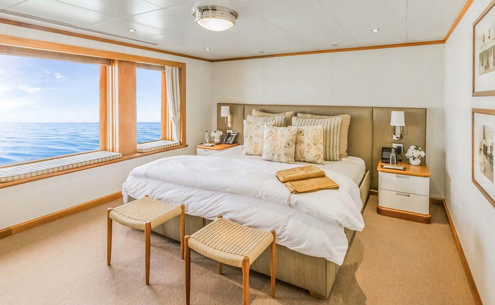Teak cabin on a yacht for charter yacht for charter M/Y SuRi
