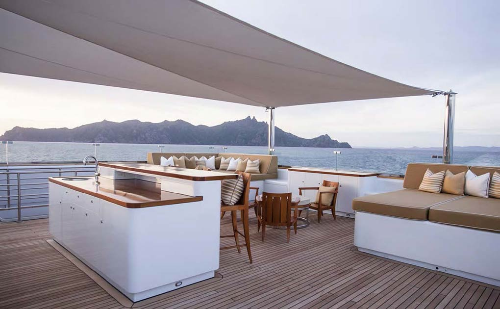 Open area on a yacht for charter yacht for charter M/Y SuRi