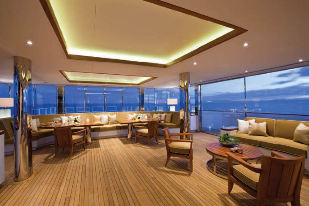 Lounge area on a yacht for charter yacht for charter M/Y SuRi
