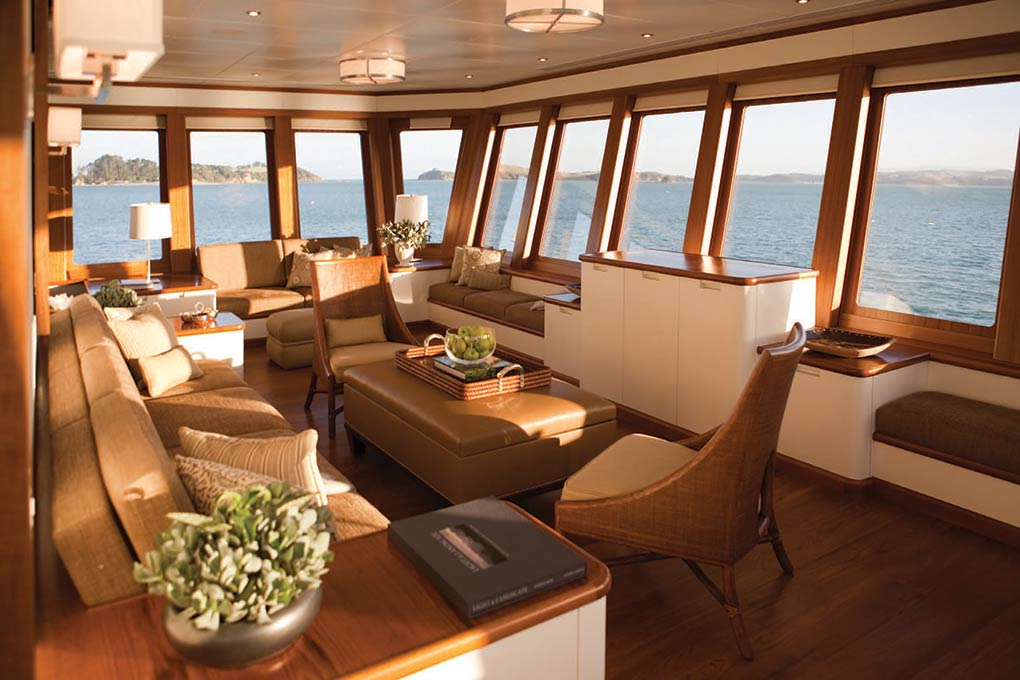 Private saloon on a yacht for charter yacht for charter M/Y SuRi