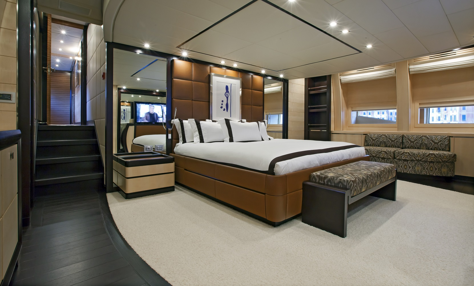 lisa iv yacht for charter master suite