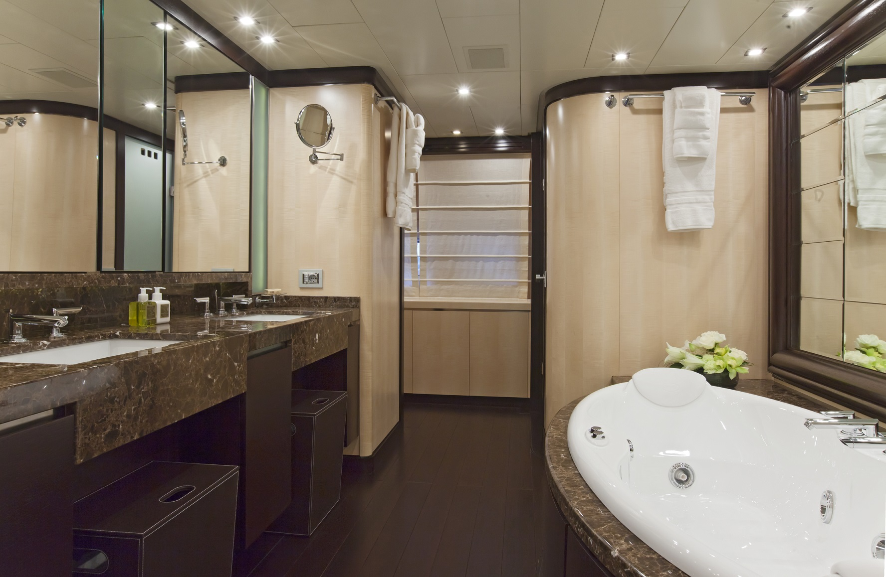 lisa iv yacht for charter master bath