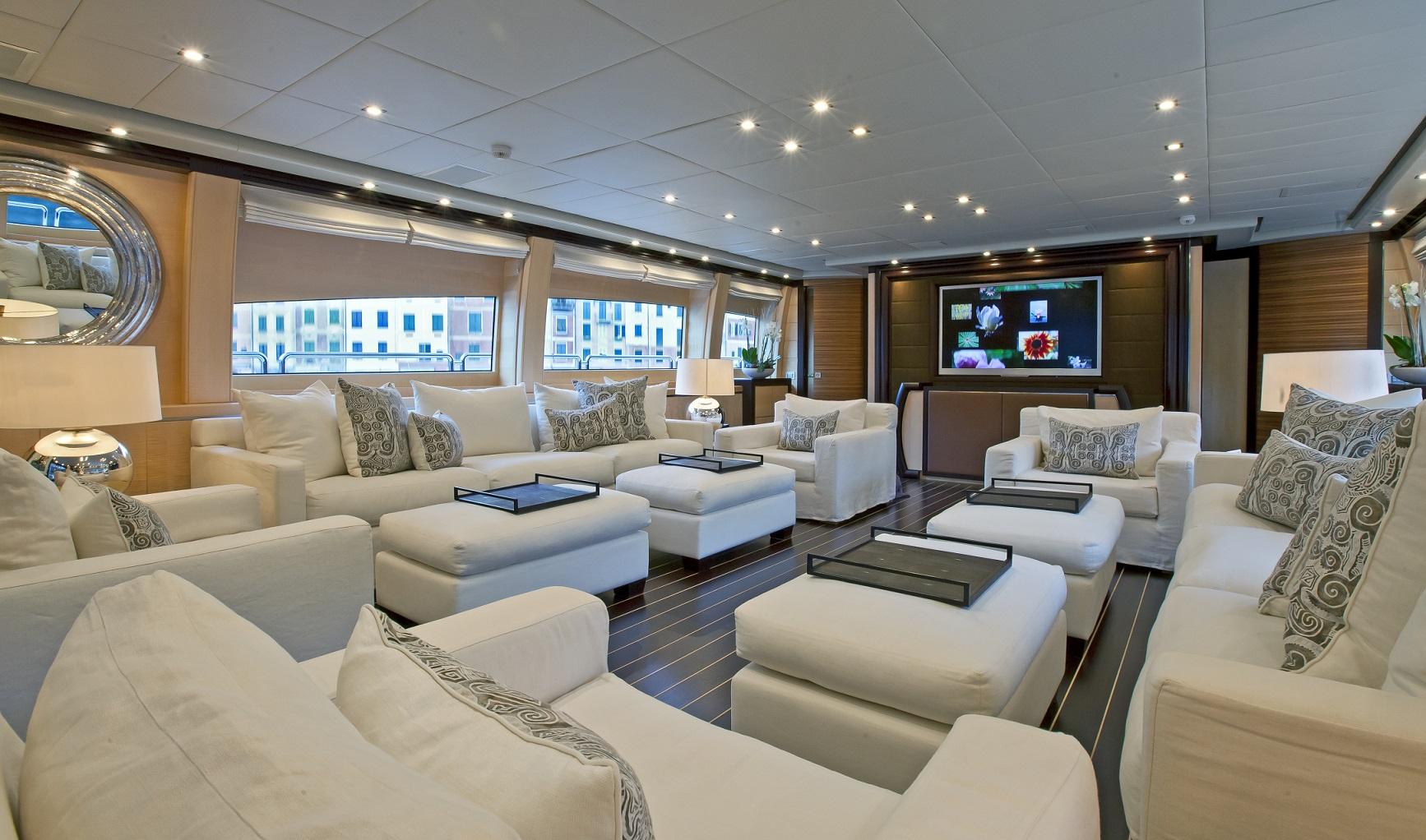 lisa iv yacht for charter salon