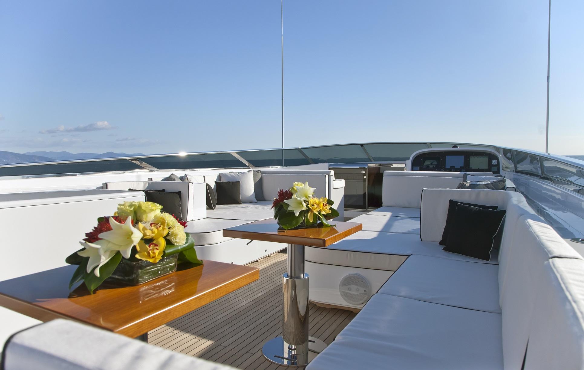lisa iv yacht for charter sundeck