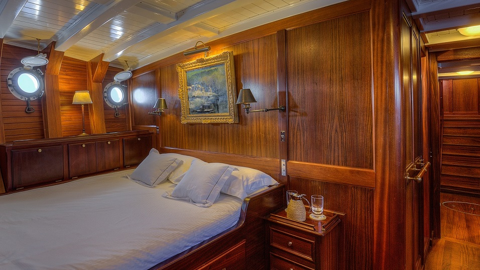 Luxury cabin on a yacht S/Y TRINAKRIA for charter