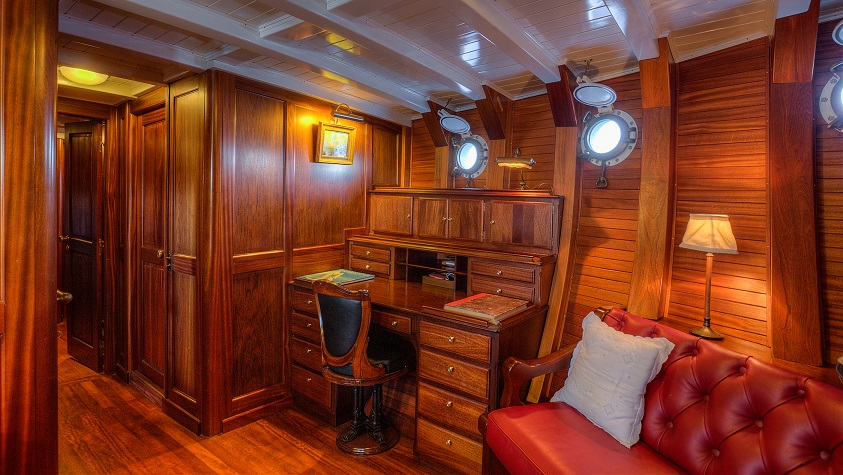 Private office on a yacht for charter S/Y TRINAKRIA