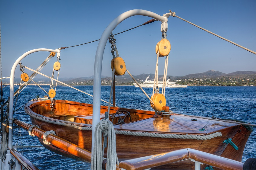deck boat on a yacht for charter S/Y TRINAKRIA