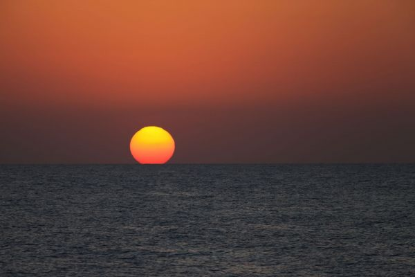 Sunset on a Luxury Red Sea Yacht Charter