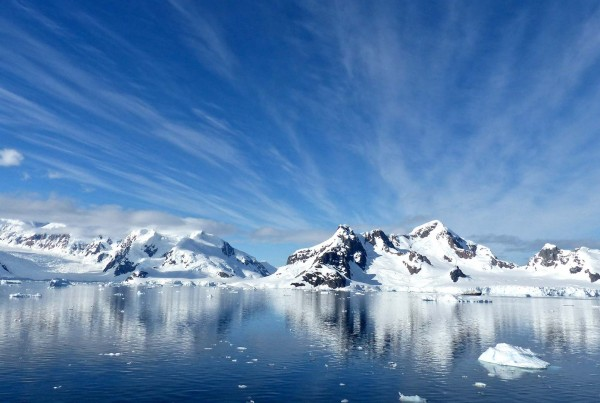 View from an Antarctica yacht charter