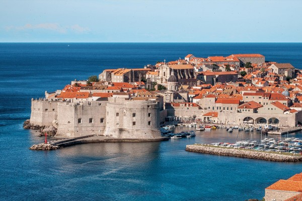 Dubrovnik port on luxury yacht charter Croatia