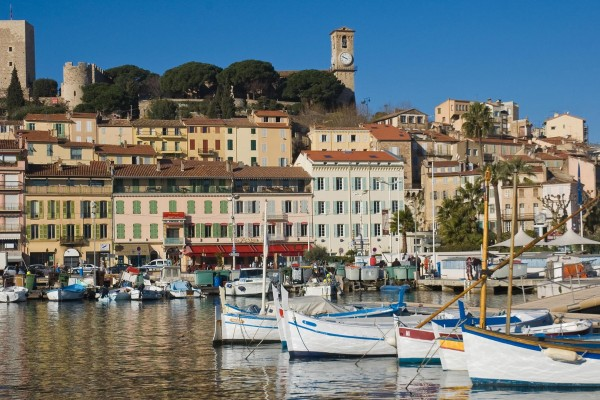 Boats in harbour on luxury yacht charter France