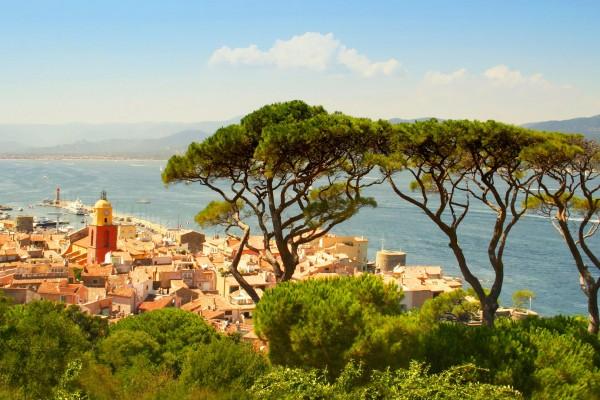 Coastal town on luxury yacht charter France