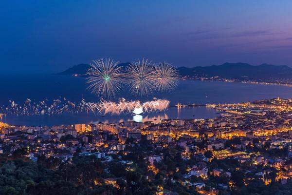 Bastille Day fireworks on luxury yacht charter France