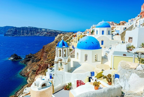 Coastline on a luxury yacht charter greece