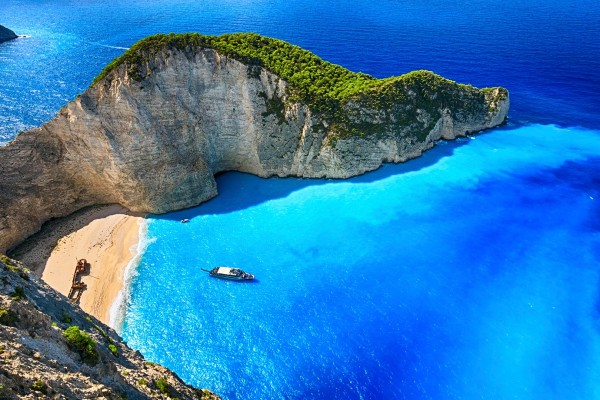 Zakynthos beach on luxury yacht charter Greece