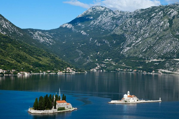 Fjords seen on luxury yacht charter in Montenegro