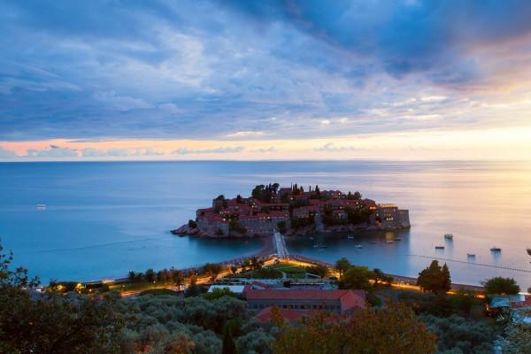 Island on luxury yacht charter in Montenegro