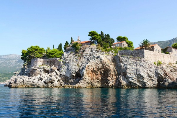 Rocky outcrop on luxury yacht charter in Montenegro