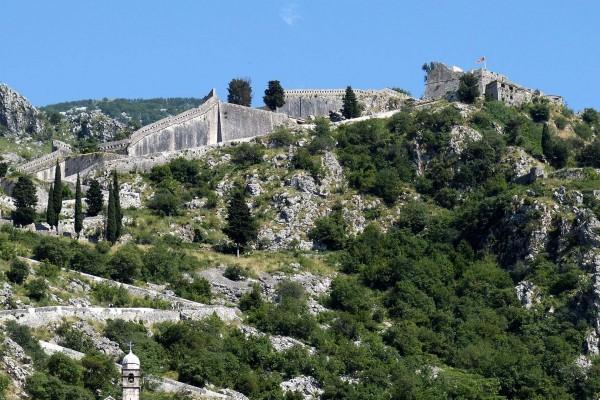 Hillside village on luxury yacht charter in Montenegro