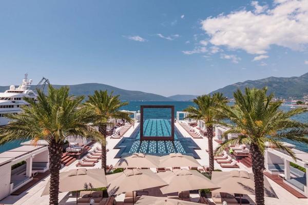 Superyacht in Porto Montenegro on luxury yacht charter in Montenegro