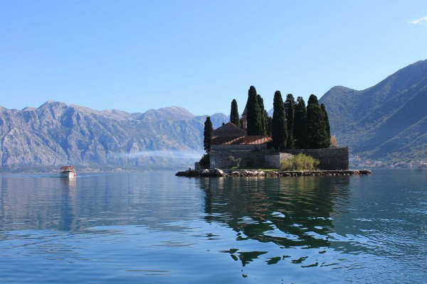 Island spotted on luxury yacht charter in Montenegro