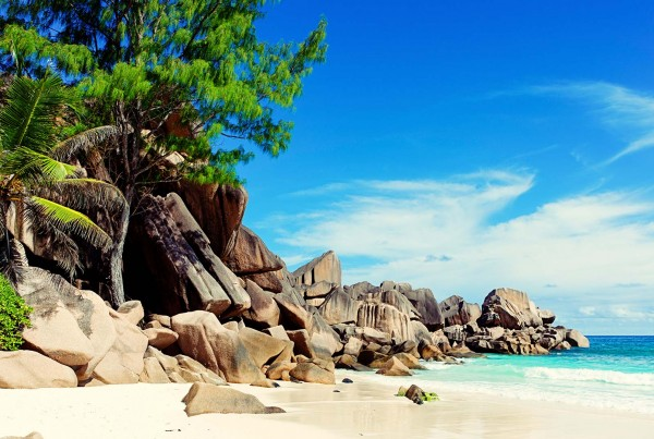 Beach on a Seychelles luxury yacht charter