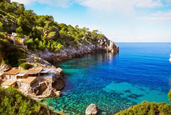 Coastline on luxury yacht charter Spain