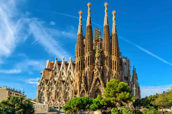 La Sagrada Familia Barcelona - luxury yacht charter Spain
