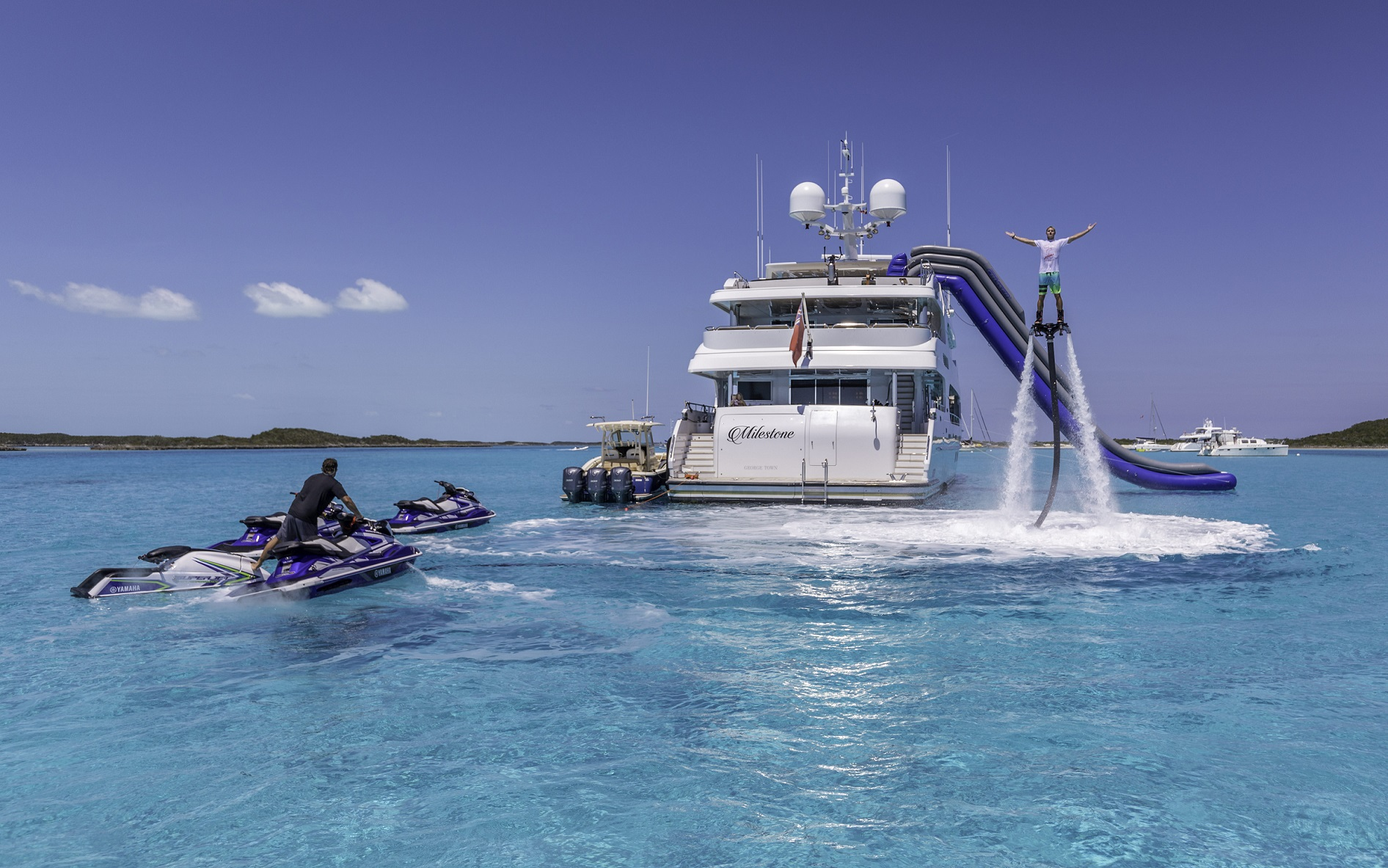 jet skis m/y milestone for charter