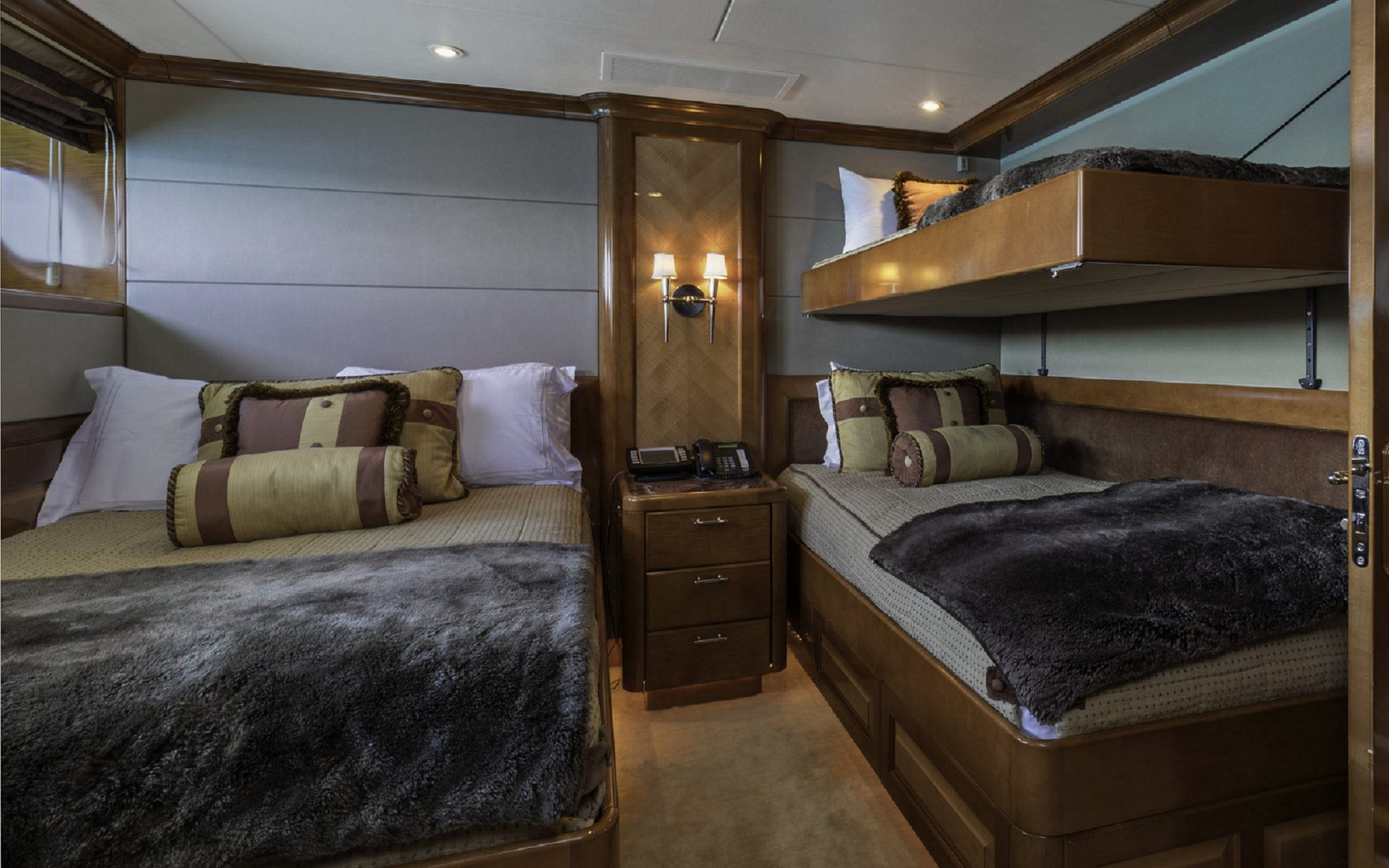 bedroom cabin m/y milestone yacht for charter