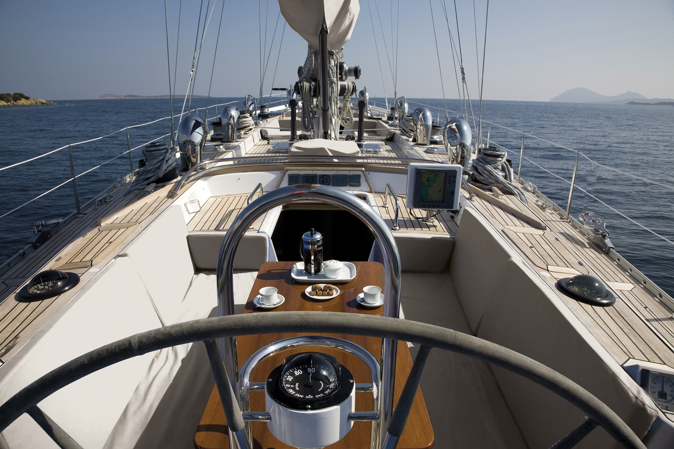 yacht for charter S/Y CYCLOS II deck area