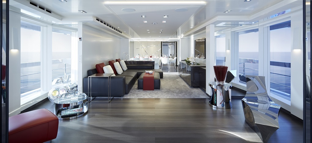 Livingroom area m/y Home yacht for charter
