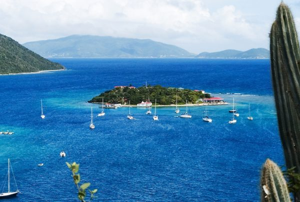 Yachts on a luxury yacht charter Virgin Sslands